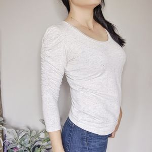 Anthropologie Dolan puff sleeved t-shirt grey 0123